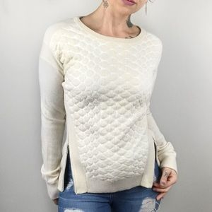 AUTUMN CASHMERE Quilted Side Zip Sweater